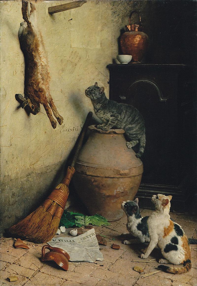 Caça de Lebre - Gaetano Chierici
