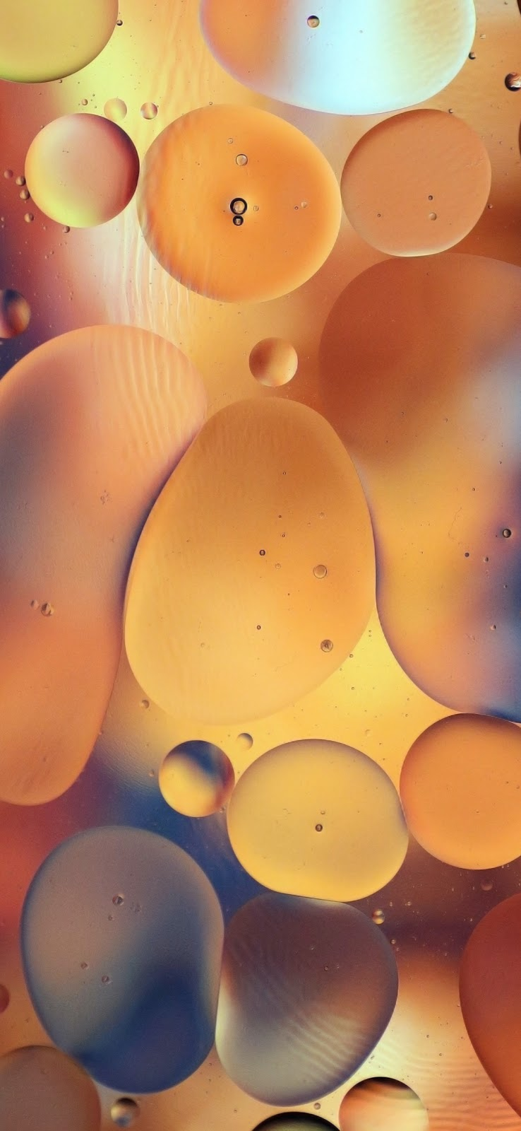 cool brown bubbles trapped inside water wallpaper