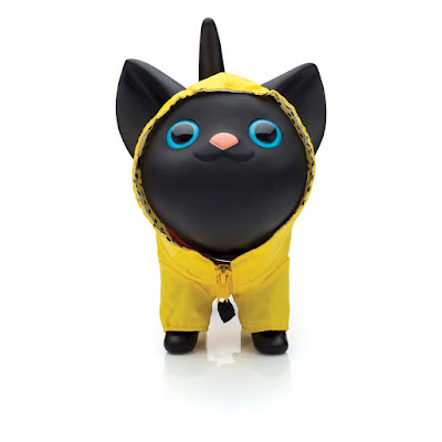 Cofre - gato com capa de chuva