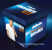 Logo Vinci gratis 480 kit ''Gillette Bomber '' con gel, canottiera, rasoio e non solo ( euro 285 ciascuno)