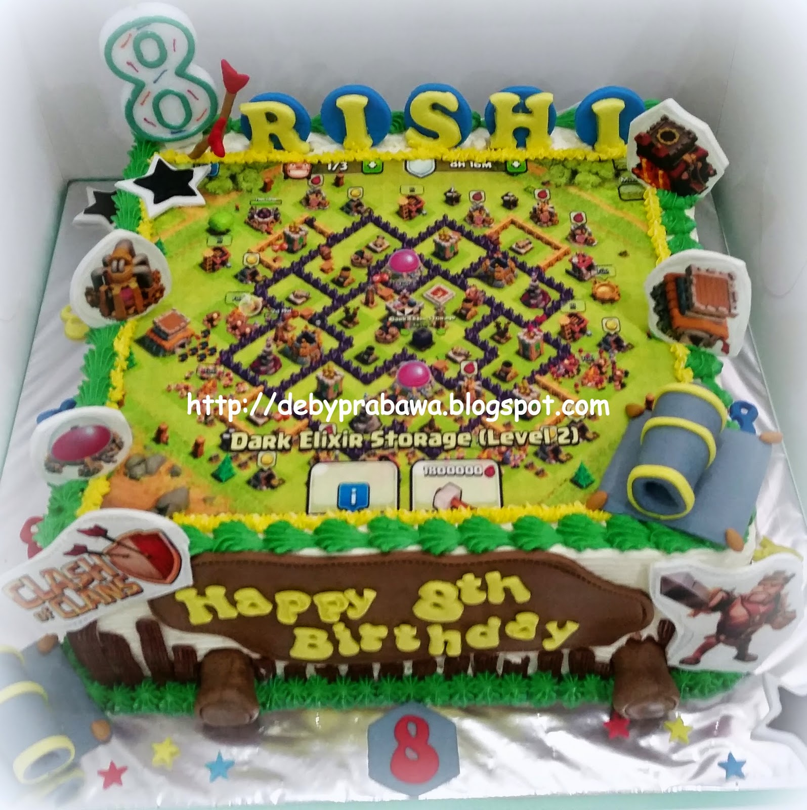Butterfly Cake Clash Of Clans Photo Cake