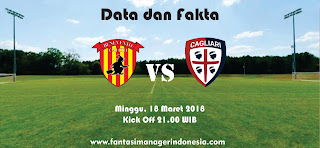 Data dan Fakta Liga Fantasia Serie A Gio 29 Benevento vs Cagliari Fantasi manager Indonesia