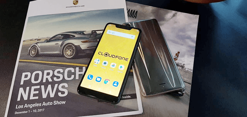 Cloudfone teases a smartphone with glossy back and notch