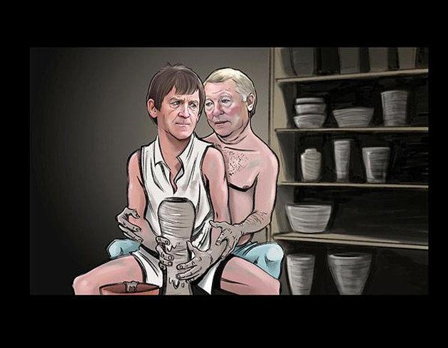 Funny Sexy Football Mangers Cartoon