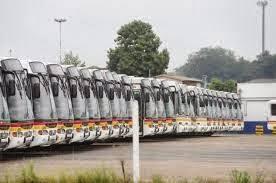 Ônibus parados em Porto Alegre-RS