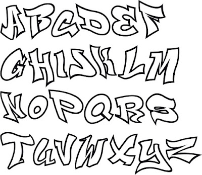 Graffiti Letters font, Graffiti Alphabet A-Z