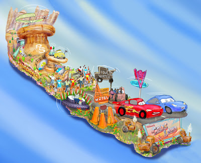 cars land float to appear in the 124th rose parade pixar
