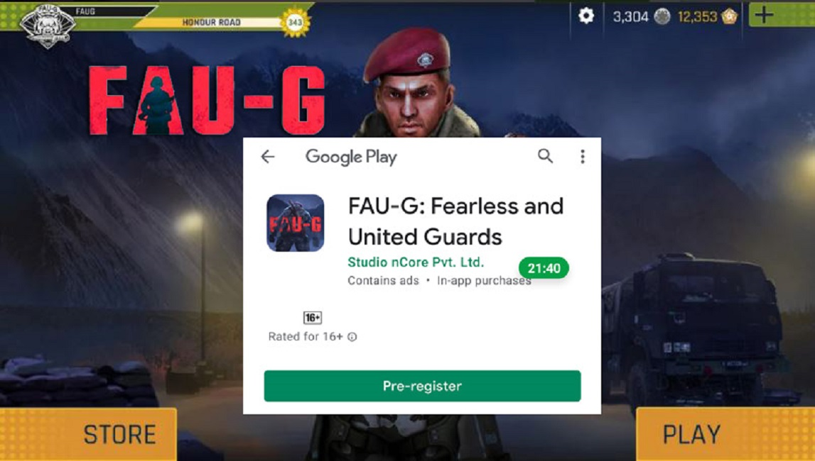 FAUG Pre Registration started on Google Play Store