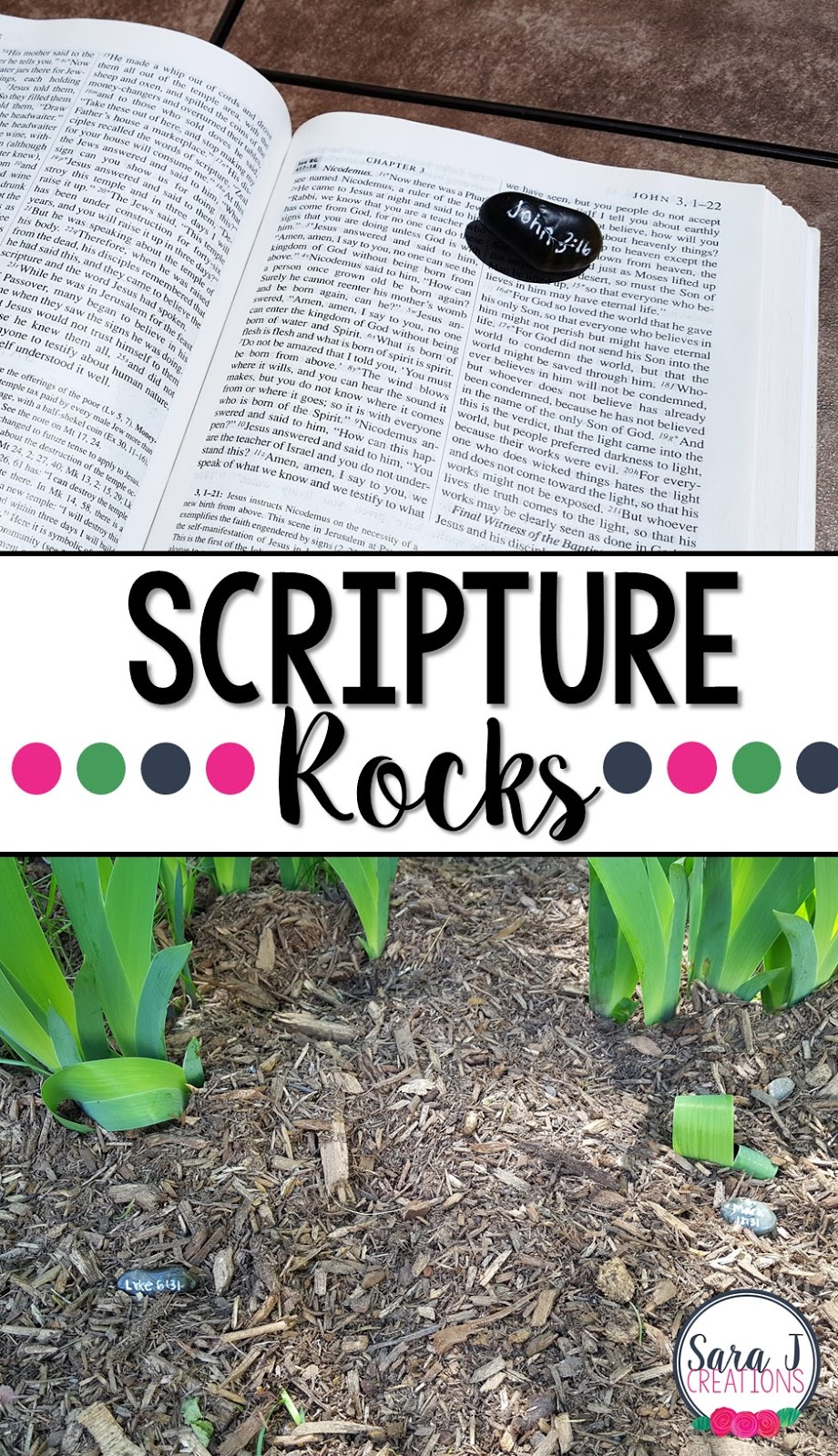 Scripture Rocks are a fun way to get students using their Bibles and looking up chapter and verse by themselves. It makes a great addition to prayer life and can be used outdoors or indoors!