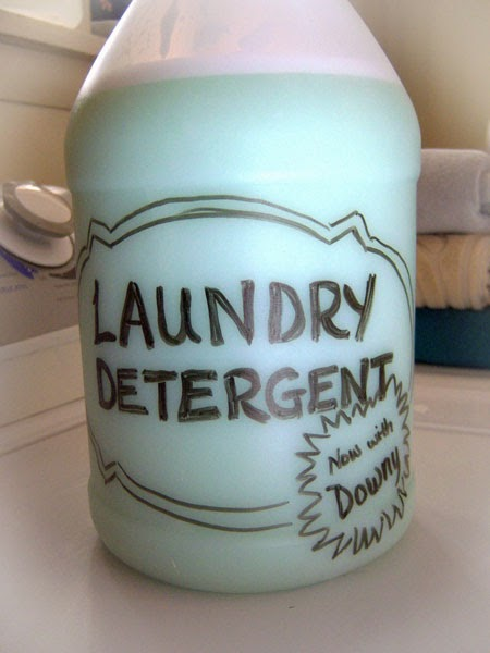Homemade Custom-Scented Liquid Laundry Detergent finished
