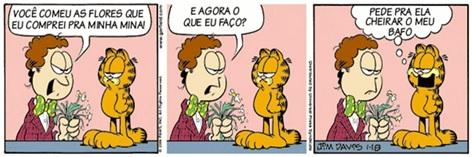 tirinha Garfield pronome