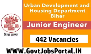 Bihar Urban Development JE Vacancy 2020