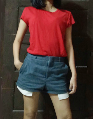 Red tshirt embroidery diy