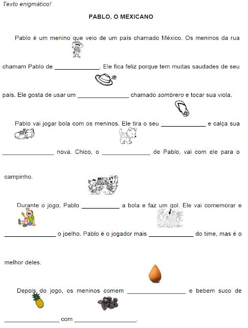 Texto enigmático PABLO, O MEXICANO, de Elisângela Terra
