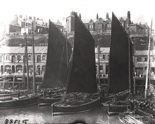 Herring boats Fish Quay North Shields c.1890
