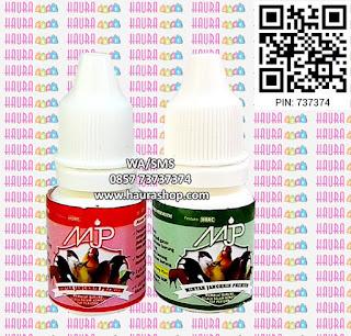 MJP Merah dan Hijau adalah Minyak Jangkrik Premium produksi dari Hore. Mengandung Konsentrat Minyak jangkrik 10% untuk MJP Merah dan 5% untuk MJP Hijau, yang sudah terbukti mampu mendongkrak kerja burung dilapangan.