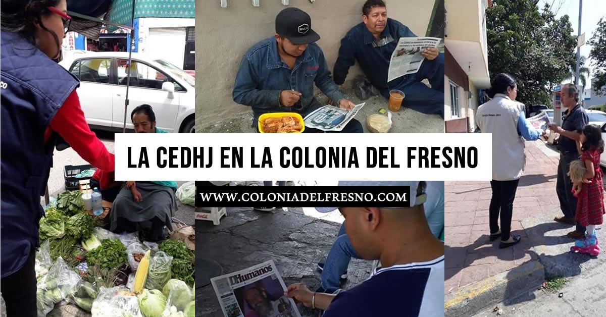 la Comisión Estatal de Derechos Humanos Jalisco en la colonia del fresno
