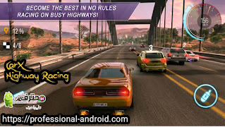 تحميل لعبة سباق الطرق السريعة CarX Highway Racing مهكرة للاندرويد اخر اصدار