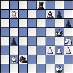 Posición de la partida de ajedrez Sanz-San Vicente