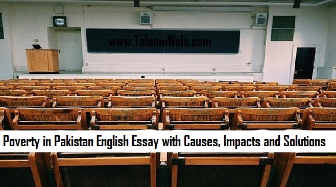 Poverty in Pakistan English Essay with Causes, Impacts and Solutions