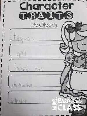 Fairy Tales unit featuring activities for Cinderella, The Three Little Pigs, Goldilocks and the Three Bears, The Frog Prince, Jack and the Beanstalk, and Little Red Riding Hood for First and Second Grade