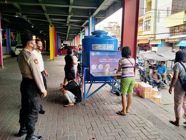 Polres Pelabuhan Gencar Beri Edukasi di Pasar Butung Terapkan Protokol Kesehatan
