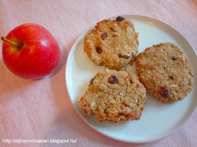 gluténmentes, recept, keksz, almás, hajdinaliszt, kukoricaliszt, cukormentes,