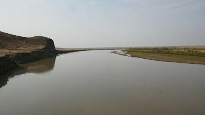 Montana, bridge, Havre, Milk River, prairie