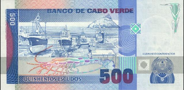 Cape Verde 500 Escudos banknote 1989 Maritime Shipyards