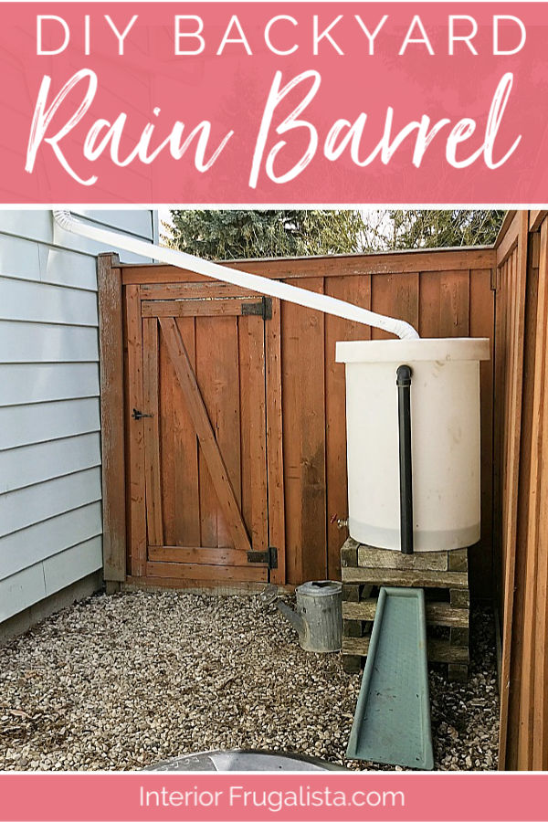 How to recycle a 50-gallon plastic container into an eco-friendly rain water barrel collection system plus how to compost in a small urban backyard. #rainbarrelsystem #rainwatercollection #organicgardening