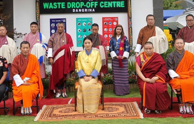 Queen Jetsun Pema of Bhutan. Zero Waste Bhutan by 2030. The electric waste utility vehicles