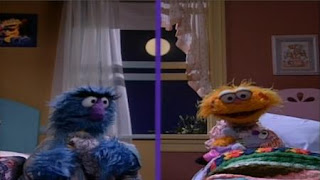 Zoe and Herry Monster sing Moonshine. Sesame Street Bedtime with Elmo