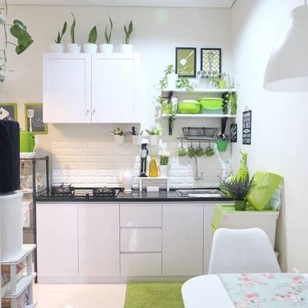 dapur kecil pada rumah mungil minimalis