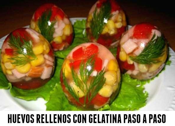 Huevos transparentes rellenos con gelatina  tutorial