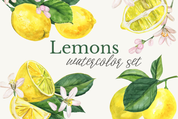 Watercolor Lemon Clipart