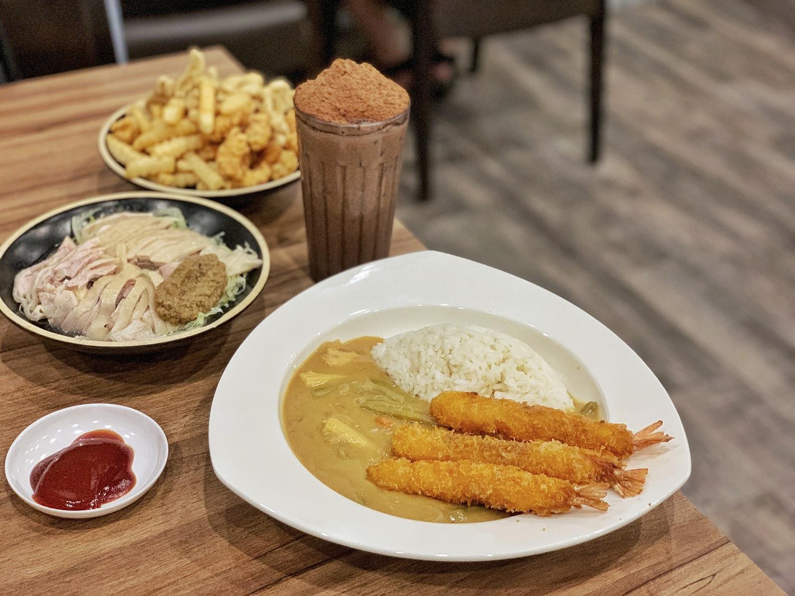 台南東區美食【寶貝老闆新加坡叻沙麵 東寧店】椰香咖哩炸蝦飯