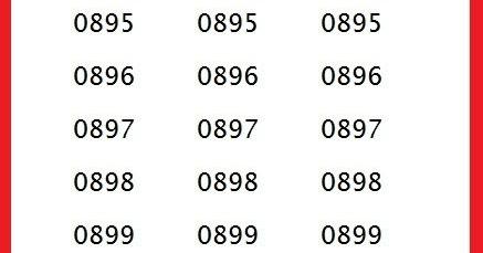 Nomor Awalan 0895 0896 0897 0898 0899 Kartu Operator Apa Cara Cek Sisa Paket
