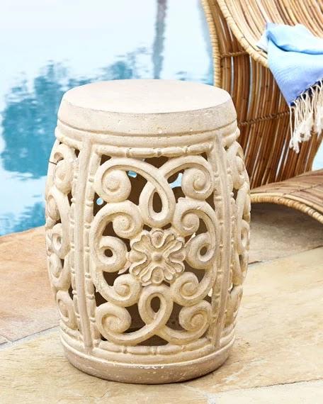 Silver Honeycome Garden Stool, $105 (ships Free!) Copper Metallic Garden  Stool, $115 (ships Free!) Dot U0026 Bo Golden Accent Garden Stool, $130