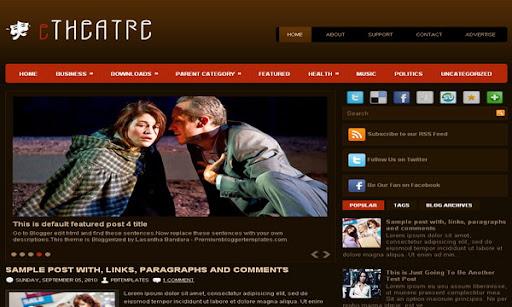 eTheater Blogger Template