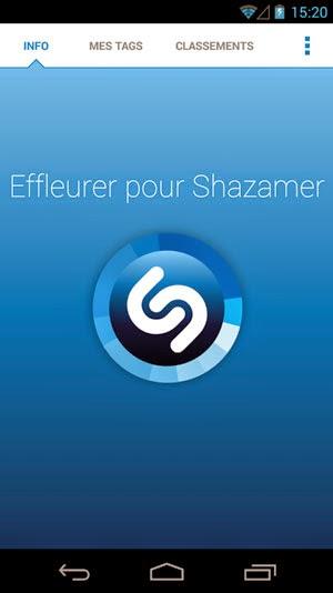 application smartphone shazam
