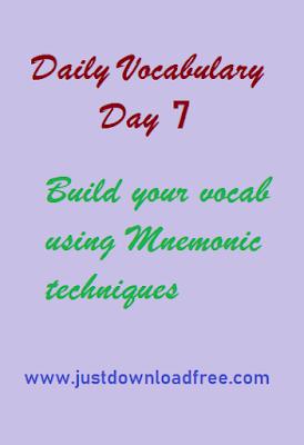 Easy tricks for vocabulary day 7