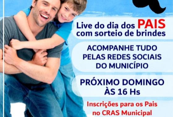 Dia dos Pais: Cacimba de Areia realiza LIVE para homenagear todos os papais do município