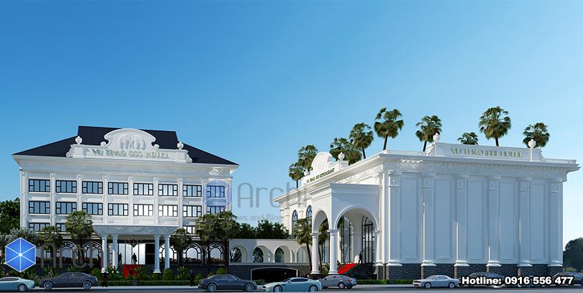 Hình ảnh: Thiết kế khách sạn đẹp 4 sao 5 tầng tại Sơn La