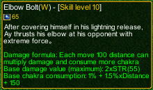 naruto castle defense 6.0 Elbow Bolt detail
