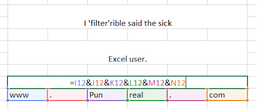 Filtered Excel pun.