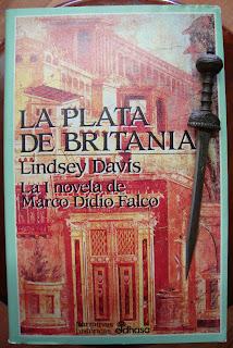 Portada del libro La plata de Britania, de Lindsey Davis