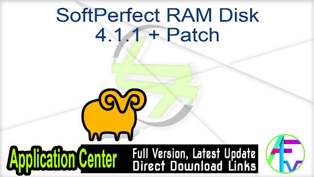 SoftPerfect RAM Disk 4.1.1 + Patch