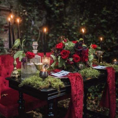inspirations et idées déco pour un mariage thème gothique chic blog mariage unjourmonprinceviendra26.com