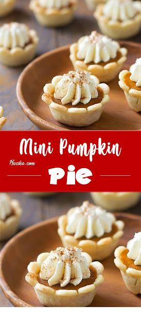 Mini Pumpkin Pies #christmas #dessert