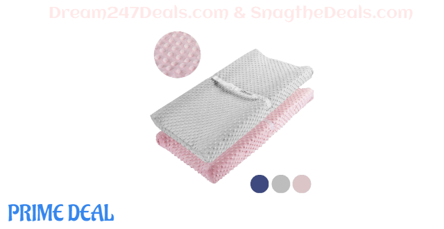 Changing Pad Cover (Blue&Grey / Pink&Grey) 40% OFF